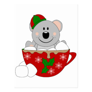Cutelyn Christmas Mug Koala Bear Postcard