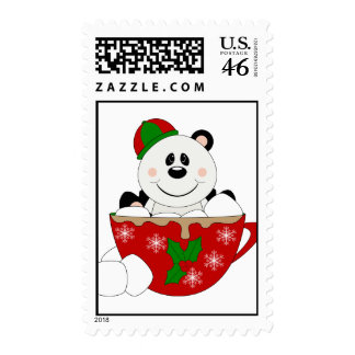 Cutelyn Christmas Mug Panda Bear Postage