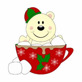 Cutelyn Christmas Mug Polar Bear Acrylic Cut Outs
