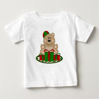 Cutelyn Christmas Present Bear Baby T-Shirt