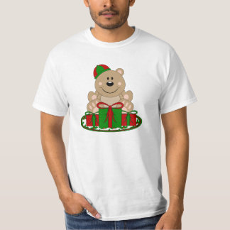 Cutelyn Christmas Present Bear T-Shirt