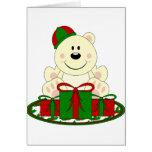 Cutelyn Christmas Present Polar Bear Greeting Cards