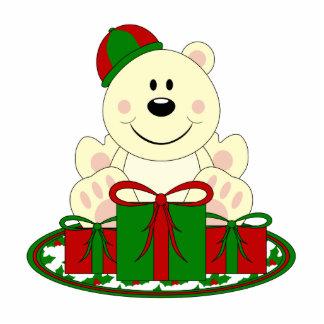 Cutelyn Christmas Present Polar Bear Cut Out
