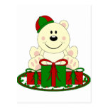 Cutelyn Christmas Present Polar Bear Post Cards