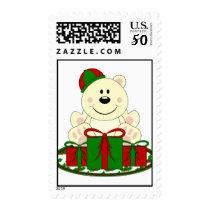 Cutelyn Christmas Present Polar Bear Postage