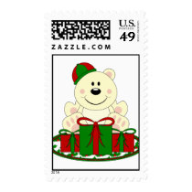 Cutelyn Christmas Present Polar Bear Postage