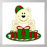 Cutelyn Christmas Present Polar Bear Print