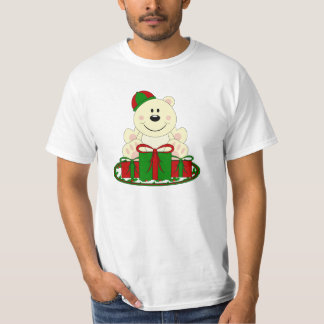 Cutelyn Christmas Present Polar Bear T-Shirt