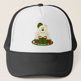 Cutelyn Christmas Present Polar Bear Trucker Hat