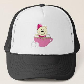 Cutelyn Girl Snow Polar Bear Mug Trucker Hat