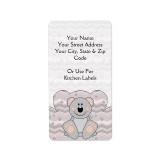 Cutelyn Koala Bear Label