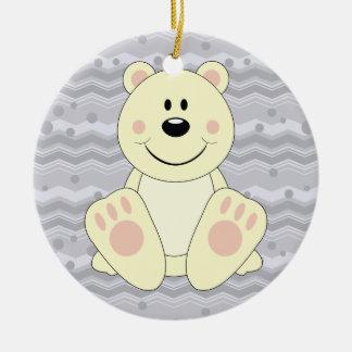 Cutelyn Polar Bear Ceramic Ornament