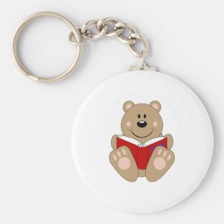 Cutelyn Reading Bear Keychain