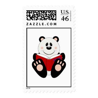 Cutelyn Reading Panda Bear Stamp