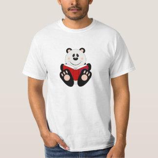 Cutelyn Reading Panda Bear T-Shirt