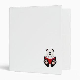Cutelyn Reading Panda Bear Vinyl Binder