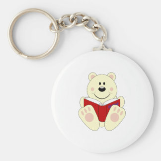 Cutelyn Reading Polar Bear Key Chains