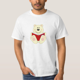 Cutelyn Reading Polar Bear T-Shirt