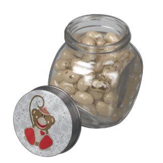 Cutelyn Sock Monkey Glass Jars