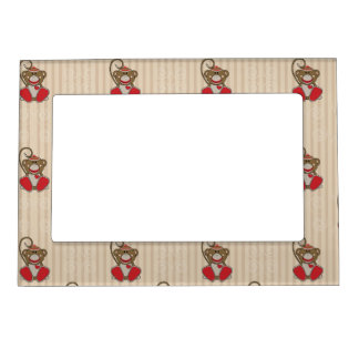 cutelyn sock monkey magnetic frame - Monkey Picture Frame
