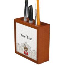 Cutelyn Sock Monkey Pencil/Pen Holder