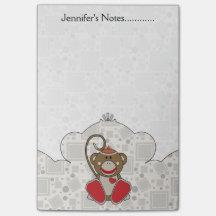 Cutelyn Sock Monkey Post-it® Notes