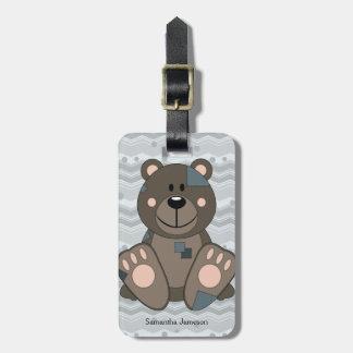 Cutelyn Teddy Bear Bag Tags