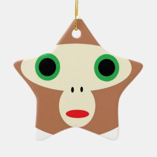 CuteMonkey Ceramic Ornament