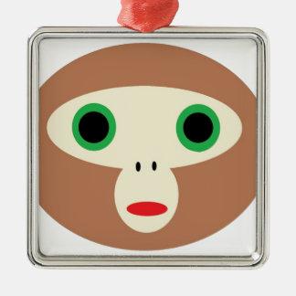 CuteMonkey Metal Ornament