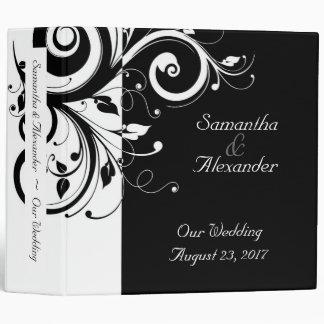 CuteNComfy Black Reverse Swirl Wedding Binder