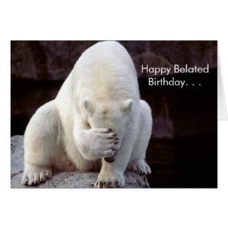 Cuteness Galore Belated Birthday Card