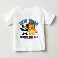 Baby Fine Jersey T-Shirt with Cuteness Gone Wild design
