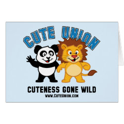 Greeting Card with Cuteness Gone Wild design