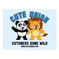 Postcard with Cuteness Gone Wild design
