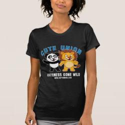 Women's American Apparel Fine Jersey Short Sleeve T-Shirt with Cuteness Gone Wild design
