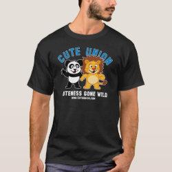 Men's Basic Dark T-Shirt with Cuteness Gone Wild design