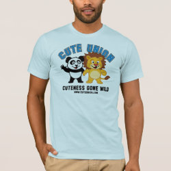 Men's Basic American Apparel T-Shirt with Cuteness Gone Wild design