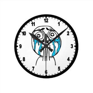 Cuteness Overload Comic Meme Round Clock