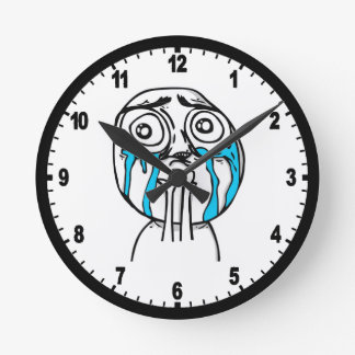 Cuteness Overload Comic Meme Wall Clocks