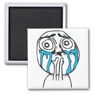 Cuteness Overload Cute Rage Face Meme 2 Inch Square Magnet