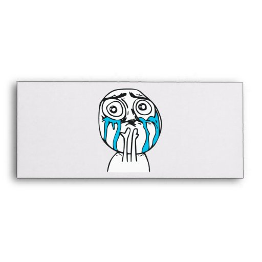 Cuteness Overload Cute Rage Face Meme Envelopes