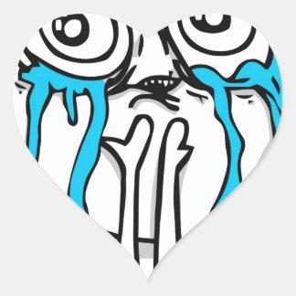 Cuteness Overload Meme Heart Sticker