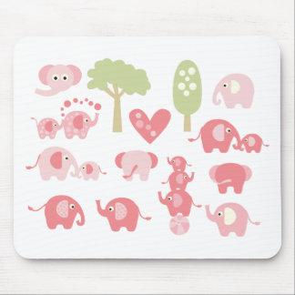 CutePinkElephant1 Mouse Pad