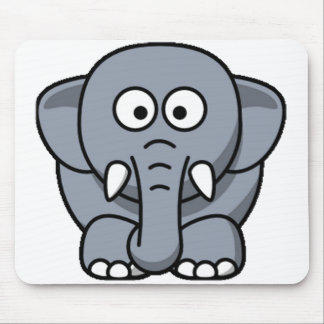 Cuter Elephant Mouse Pads