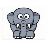 Cuter Elephant Postcard
