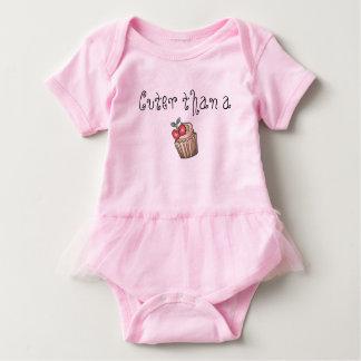 Cuter Than A cupcake baby tutu Baby-Einteiler