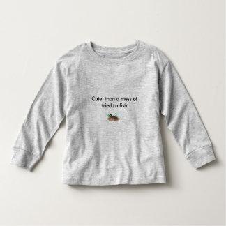 Cuter than a mess of fried catfish toddler t-shirt