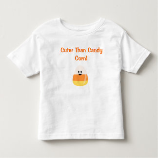 """Cuter Than Candy Corn""  Halloween T for Toddlers Toddler T-shirt"