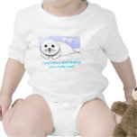 Cuter then a baby seal baby top baby bodysuits