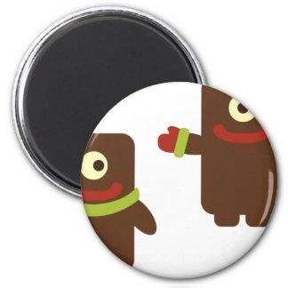CuteRetroMonster4 2 Inch Round Magnet